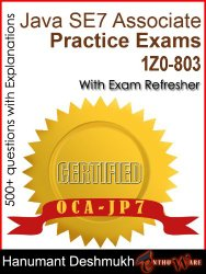 OCAJP Oracle Certified Associate Java SE 7 Programmer Practice Exams