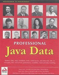 Professional Java Data: RDBMS, JDBC, SQLJ, OODBMS, JNDI, LDAP, Servlets, JSP, WAP, XML, EJBs, CMP2.0, JDO, Transactions, Performance, Scalability, Object and Data Modeling