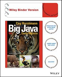 Big Java, Binder Ready Version: Early Objects