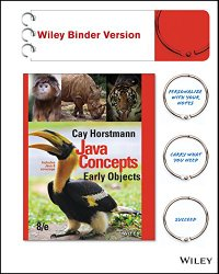 Java Concepts, Binder Ready Version: Early Objects