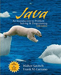 Java: Introduction to Problem Solving and Programming (5th Edition)