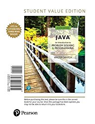 Java: An Introduction to Problem Solving and Programming, Student Value Edition (8th Edition)