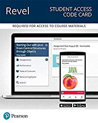Revel for Starting Out With Java: Control Structures through Objects — Access Card