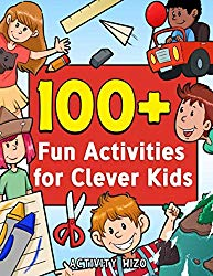 100+ Fun Activities for Clever Kids: Puzzles, Mazes, Coloring, Crafts, Dot to Dot, and More for Ages 4-8 (Jumbo Pack – Book Bundle)