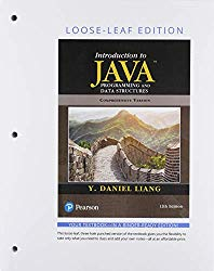 Introduction to Java Programming and Data Structures, Comprehensive Version, Loose Leaf Edition (12th Edition)